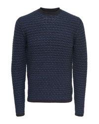 Only & Sons Blue Phantom Crew Sweatshirt for men