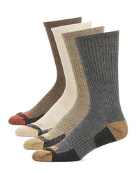 Timberland - Gray Four-pack Outdoor Leisure Crew Socks for Men - Lyst