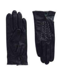 Lauren by Ralph Lauren | Black Leather Gloves | Lyst