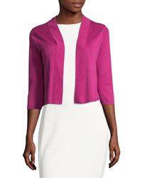 Tommy Bahama - Pink Ocean Cropped Cardigan - Lyst