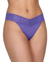 Hanky Panky   Purple Modal Original Rise Thong   Lyst