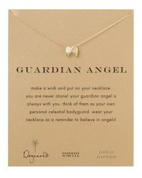 Dogeared Metallic Guardian Angel Necklace