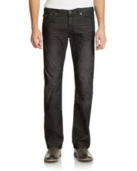 True Religion Black Ricky Relaxed Straight-fit Pants for men