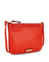 Calvin Klein | Orange Textured Leather Crossbody | Lyst
