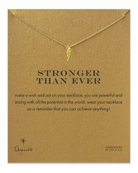 Dogeared - Multicolor Stronger Than Ever Lightning Bolt Necklace - Lyst