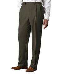 Lauren by Ralph Lauren - Green Wool-cashmere-blend Cuffed Pants for Men - Lyst