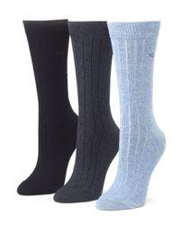 Calvin Klein - Blue Combed Cotton Socks - Lyst