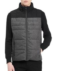 Calvin Klein - Gray Two-tone Puffer Jacket for Men - Lyst