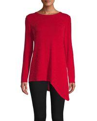 Calvin Klein - Red Asymmetric Knit Top - Lyst