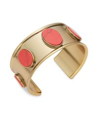 Kate Spade - Red Bright And Bold Cuff Bracelet - Lyst
