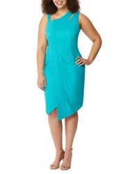 REBEL WILSON X ANGELS - Blue Plus Asymmetrical Cutout Dress - Lyst