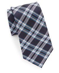 Cole Haan - Blue Classic Plaid Tie for Men - Lyst
