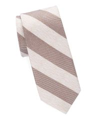 Cole Haan | Brown Narrow Striped Silk Tie for Men | Lyst