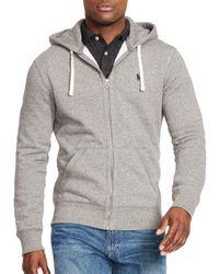 Polo Ralph Lauren | Gray Full-zip Fleece Hoodie for Men | Lyst