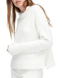 Ugg - White Textured Plush Top - Lyst
