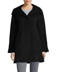 Ellen Tracy - Black Wool-blend Kimono Jacket - Lyst