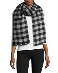 Lord & Taylor - Multicolor Reversible Blanket Wrap Scarf - Lyst