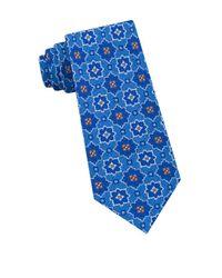 Ted Baker - Blue Starburst Medallion Silk Tie for Men - Lyst