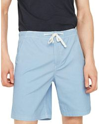 Mango - Blue Drawstring Bermuda Shorts for Men - Lyst