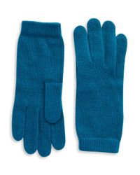 Portolano - Blue Luxe Knit Cashmere Blend Gloves - Lyst