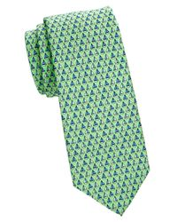 Brooks Brothers - Green Sailboat-print Silk Tie for Men - Lyst