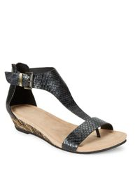 Kenneth Cole Reaction - Black Great Gal 3 Wedge Sandals - Lyst