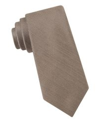 Michael Kors Brown Silk Blend Tie for men
