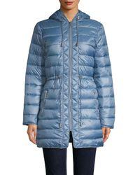 Kenneth Cole - Blue Walker Puffer Jacket - Lyst