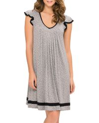 Ellen Tracy | Gray Plus Yours To Love Short Sleeve Chemise | Lyst