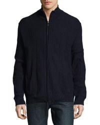 Calvin Klein Blue Rib-knit Cotton Jacket for men
