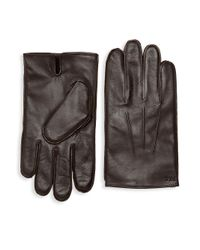 Polo Ralph Lauren - Brown Everyday Nappa Leather Gloves for Men - Lyst