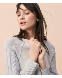 Lou & Grey - Gray Cable Sleeve Dress - Lyst