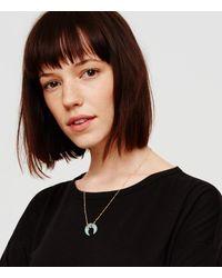 Lou & Grey | Blue Elizabeth Stone Aqua Chalcedony Crescent Necklace | Lyst