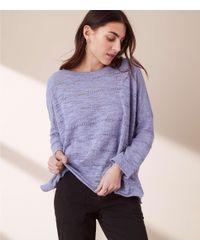 Lou & Grey - Purple Stitch Sweater - Lyst