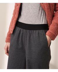 Lou & Grey - Gray Flannel Wide Leg Pants - Lyst