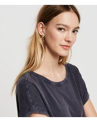 Lou & Grey | Metallic Cloverpost Badge Earrings | Lyst