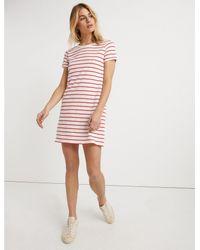 Lucky Brand Womens Striped Tee Dress