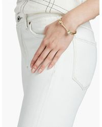 Lucky Brand - Multicolor Two Tone Pearl Hinge Bracelet - Lyst