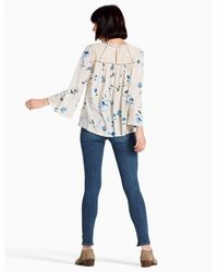 Lucky Brand - Multicolor Floral Lace Mix Peasant - Lyst