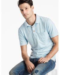Lucky Brand Blue James Stripe Polo Shirt for men