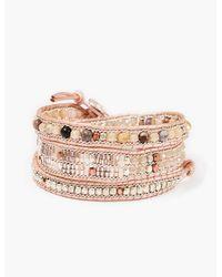 Lucky Brand - Metallic Leather Wrap Bracelet - Lyst