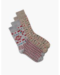 Lucky Brand - Gray 2 Pack Blanket Sock for Men - Lyst