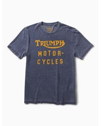 Lucky Brand Blue Triumph Motorcycles for men