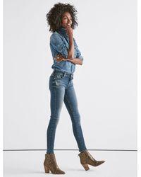 Lucky Brand Blue Ava Mid Rise Super Skinny Jean