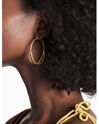 Lucky Brand - Metallic Split Hoop Earring - Lyst