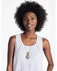 Lucky Brand | Multicolor Openwork Pendant Necklace | Lyst