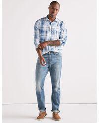 Lucky Brand - Blue One Pocket Ballona Shirt for Men - Lyst