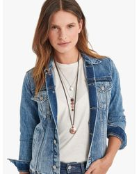Lucky Brand - Metallic Berry Stone Necklace - Lyst