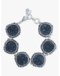 Lucky Brand - Metallic Pave Druzy Link Bracelet - Lyst