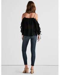 Lucky Brand Black Kelly Cold Shoulder Top